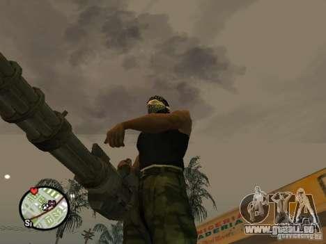 M134 Minigun de CoD : Mw2 pour GTA San Andreas huitième écran