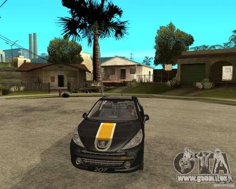 PEUGEOT 207 Griffe LANCARSPORT pour GTA San Andreas vue arrière