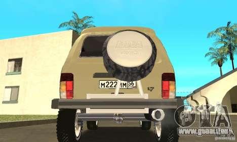 VAZ 21213 4 x 4 pour GTA San Andreas vue intérieure