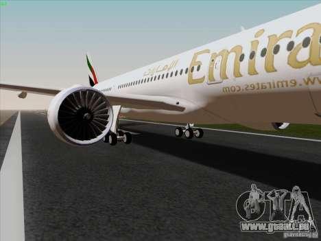 Airbus A350-900 Emirates pour GTA San Andreas vue arrière