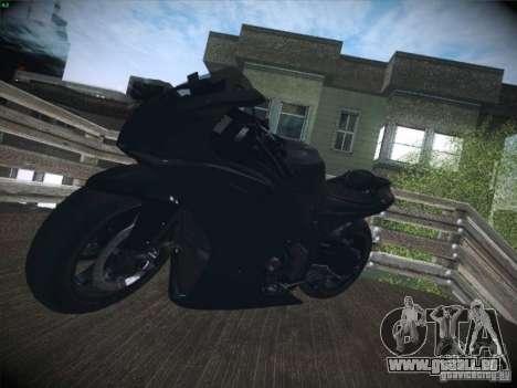 Aprilia RSV4 pour GTA San Andreas vue intérieure