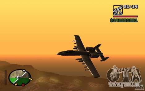 Thunderbold A-10 für GTA San Andreas