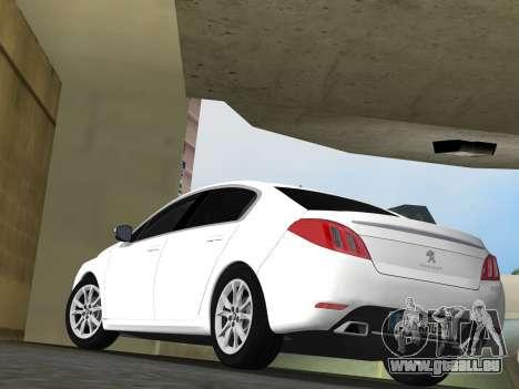 Peugeot 508 e-HDi 2011 pour GTA Vice City vue arrière