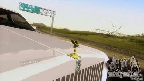 Rolls Royce Phantom Hamann pour GTA San Andreas vue intérieure