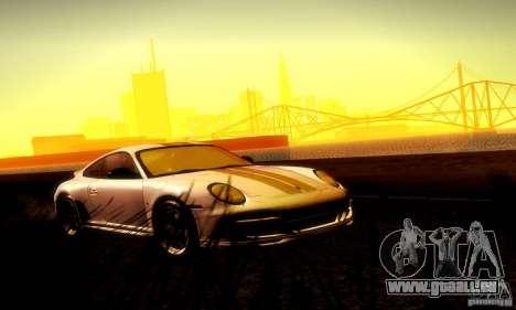 Porsche 911 Sport Classic pour GTA San Andreas vue de dessus