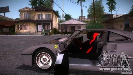 Ferrari F40 pour GTA San Andreas vue intérieure