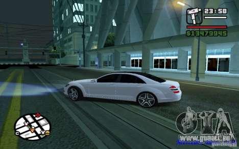 Mercedes - Benz S420 (W221) pour GTA San Andreas laissé vue