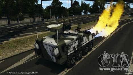 Stryker M1134 ATGM v1.0 pour GTA 4 est une vue de dessous