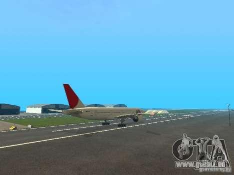 Boeing 777-200 Japan Airlines pour GTA San Andreas vue intérieure