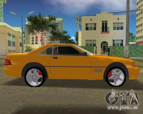 Mercedes-Benz SL600 1999 pour une vue GTA Vice City de la gauche