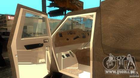 Dumb and Dumber Van pour GTA San Andreas sur la vue arrière gauche