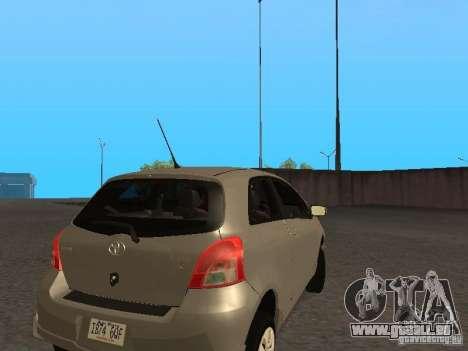 Toyota Yaris Sport 2008 pour GTA San Andreas vue de droite
