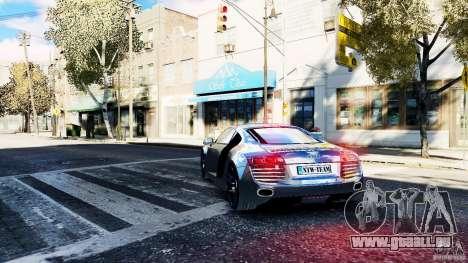 Audi R8 Spider 2011 pour GTA 4 Vue arrière de la gauche