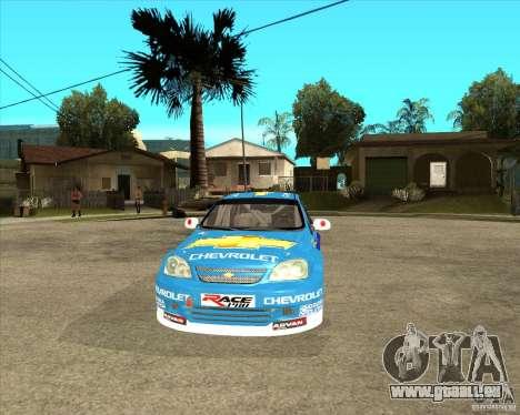 Chevrolet Lacetti WTCC für GTA San Andreas Rückansicht