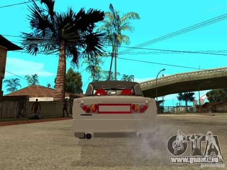 Vaz 2101 voiture Tuning Style pour GTA San Andreas sur la vue arrière gauche
