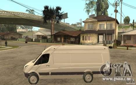 Volkswagen Crafter 2010 TDI pour GTA San Andreas laissé vue