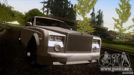 Rolls Royce Phantom Hamann pour GTA San Andreas vue de dessous