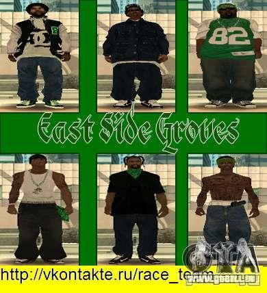 Ersetzen Sie alle Felle Grove Street Familien für GTA San Andreas achten Screenshot