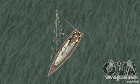 Marquis Segelyacht 09 Textures pour GTA San Andreas vue de droite