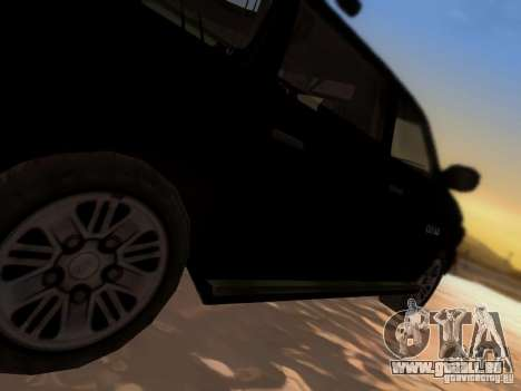 Suv Call Of Duty Modern Warfare 3 für GTA San Andreas obere Ansicht