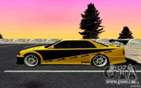 Toyota Chaser JZX100 pour GTA San Andreas laissé vue