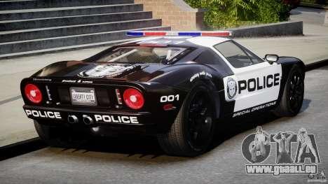 Ford GT1000 Hennessey Police 2006 [EPM][ELS] pour GTA 4 est un côté
