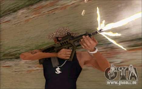 Tavor ctar-21 de WarFace v2 pour GTA San Andreas quatrième écran