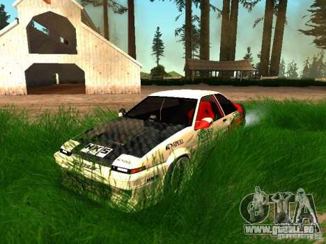 Toyota AE86 Coupe für GTA San Andreas obere Ansicht