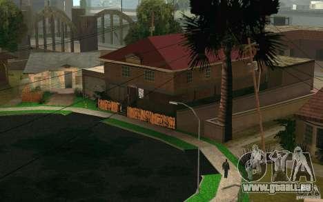 Maison Neuve sur Grove Street CJ pour GTA San Andreas cinquième écran