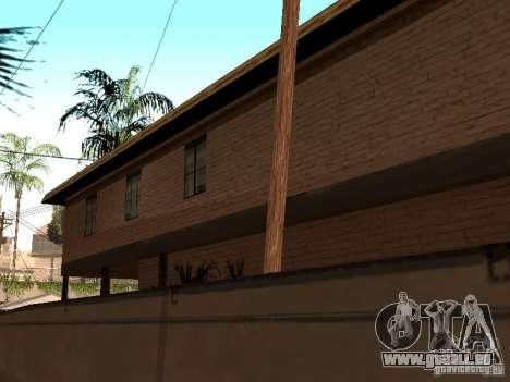 Cj maison nouvelle pour GTA San Andreas cinquième écran