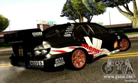 Subaru Impreza WRC 2007 für GTA San Andreas rechten Ansicht