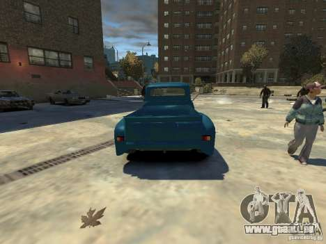Gaz 52 HotRod pour GTA 4 Vue arrière de la gauche