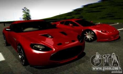 Aston Martin V12 Zagato Final pour GTA San Andreas vue de droite