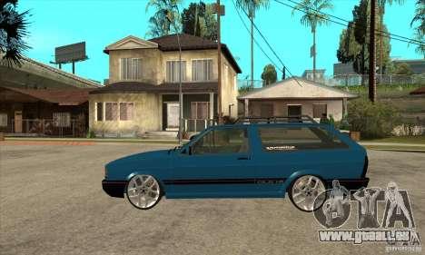 VW Parati GLS 1989 JHAcker edition pour GTA San Andreas laissé vue