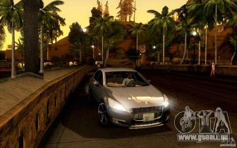 Peugeot 508 2011 pour GTA San Andreas sur la vue arrière gauche