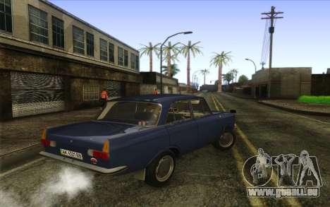 IZH 412 Moskvich pour GTA San Andreas sur la vue arrière gauche