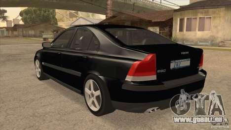 Volvo S60R für GTA San Andreas zurück linke Ansicht