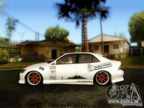 Lexus IS300 Jap style für GTA San Andreas zurück linke Ansicht