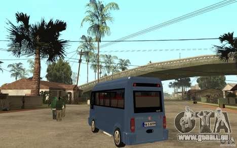 Karsan J10 für GTA San Andreas zurück linke Ansicht