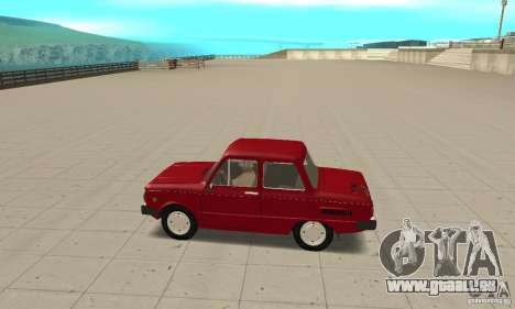 ZAZ 968 m pour GTA San Andreas laissé vue