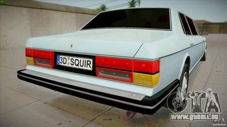 Rolls-Royce Silver Spirit 1990 Limo für GTA San Andreas zurück linke Ansicht