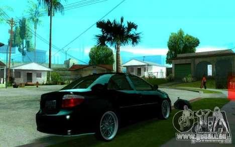 Toyota Vios pour GTA San Andreas vue de droite