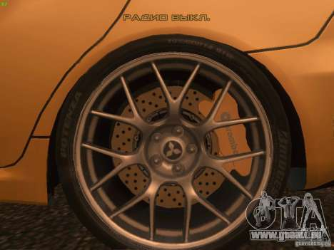 Mitsubishi  Lancer Evo X BMS Edition für GTA San Andreas Innen