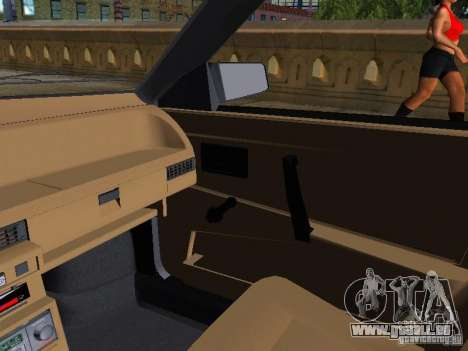 Vaz 2109 Spoutnik pour GTA San Andreas vue intérieure