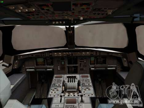 Airbus A350-900 Emirates pour GTA San Andreas salon