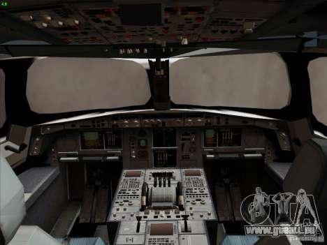 Airbus A350-900 Emirates für GTA San Andreas Innen