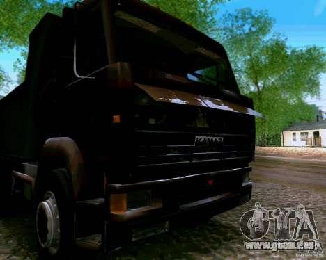 Camion à benne basculante KAMAZ 6520 pour GTA San Andreas vue arrière