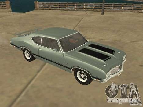 Oldsmobile 442 Cutlass 1970 pour GTA San Andreas laissé vue