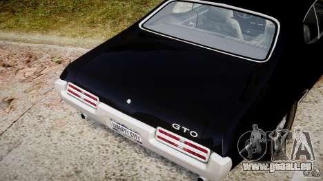Pontiac GTO Judge pour GTA 4 vue de dessus