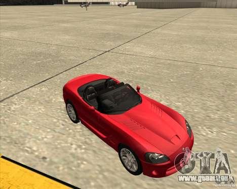Dodge Viper SRT-10 Roadster für GTA San Andreas Innenansicht